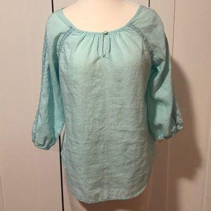 Saint Tropez West linen blouse size Medium
